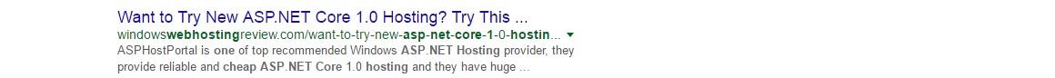 asp.net core 1 hosting