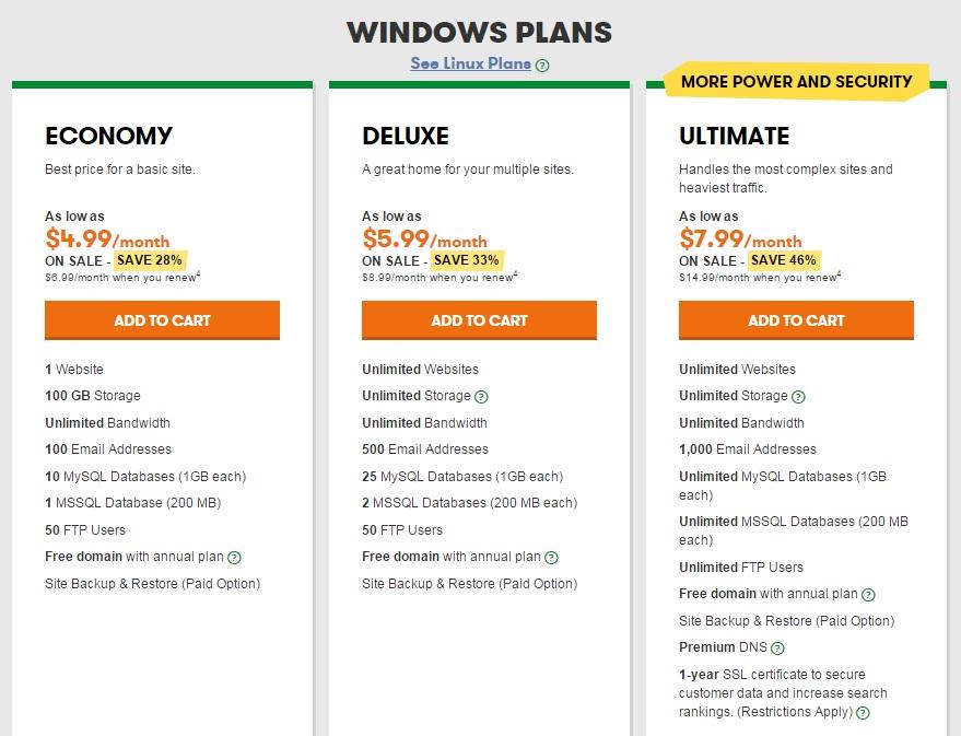 godaddy-windows-hosting-plan