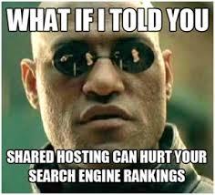 shared hosting impacts seo